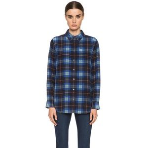 Equipment Silk Reese Plaid Button Down Shirt